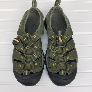 KEEN Men's Newport H2 Waterproof Sandals Green 9.5